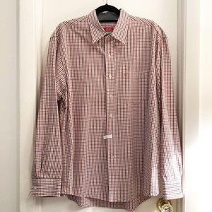 Izod Oxford Red, White & Blue Checkered Size Large